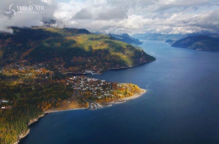 Kaslo from the air