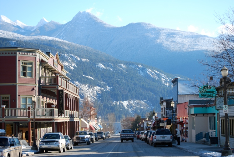 Downtown Kaslo in winter