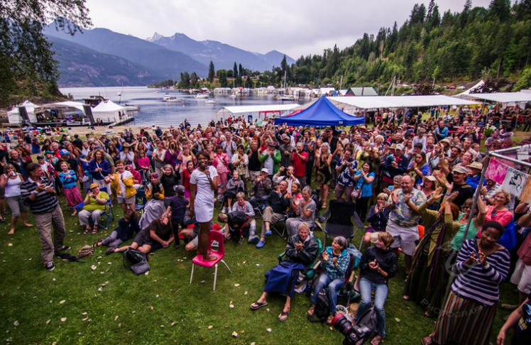 Kellylee Evan at Kaslo Jazz Fest. Photo courtesy Louis Bockner, Eye of the Mind Photography.